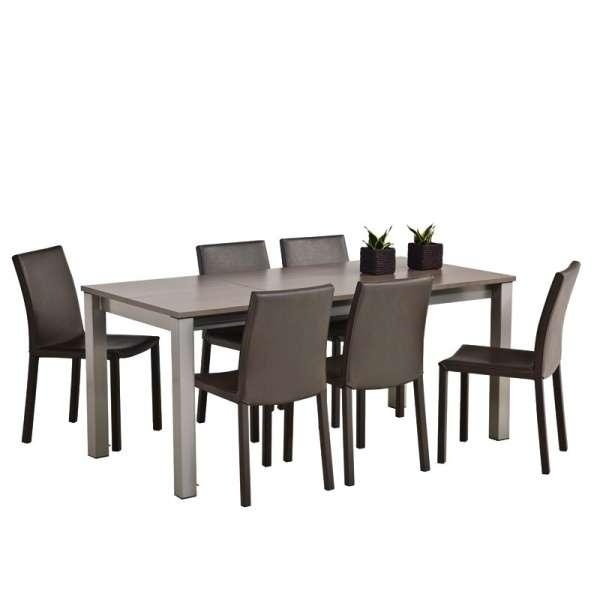 Table de cuisine rectangulaire en stratifié avec allonge Valencia - 6