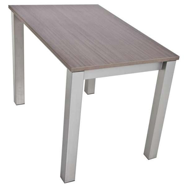 Table de cuisine rectangulaire en stratifié avec allonge Valencia - 9