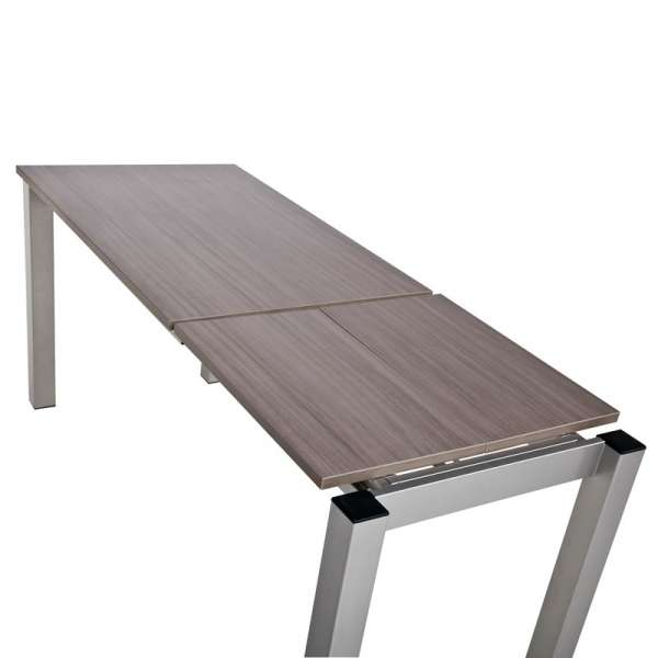 Table de cuisine rectangulaire en stratifié avec allonge - Valencia 10 - 9