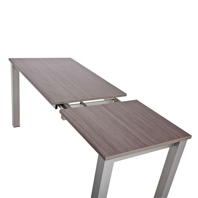Table de cuisine rectangulaire en stratifi avec allonge valencia 4 pieds tables chaises et - Table cuisine rectangulaire ...