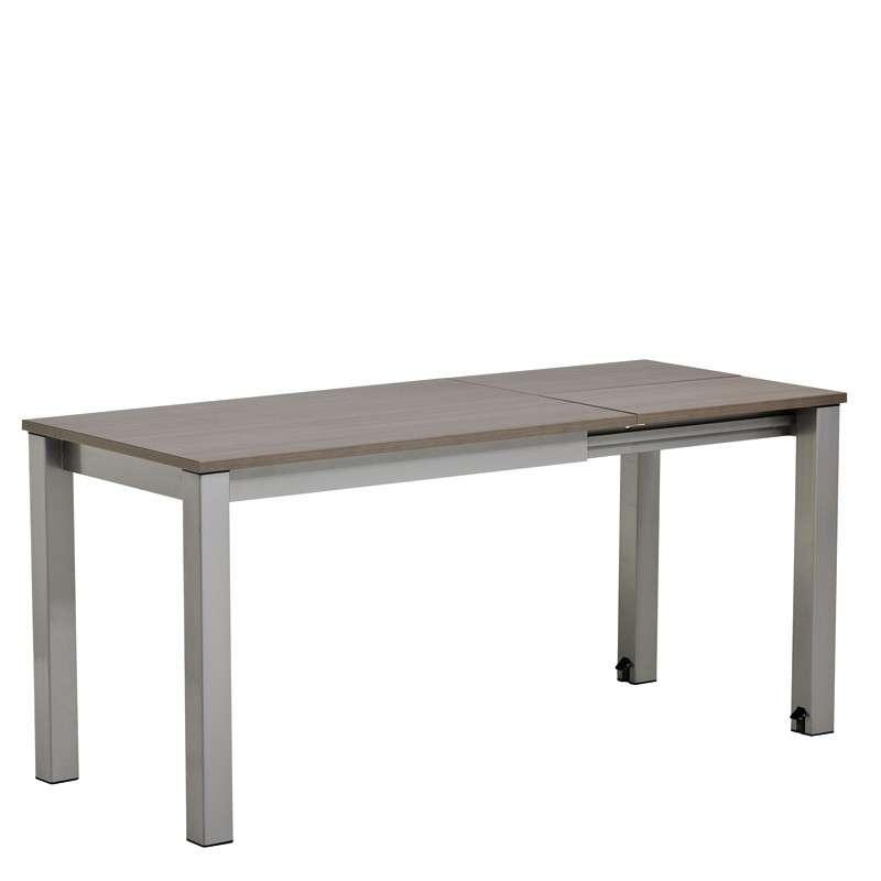 Table de cuisine rectangulaire en stratifi avec allonge for Table qui s allonge