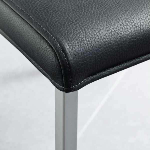 Chaise de cuisine en vinyl et métal - Gaudi 5 - 5