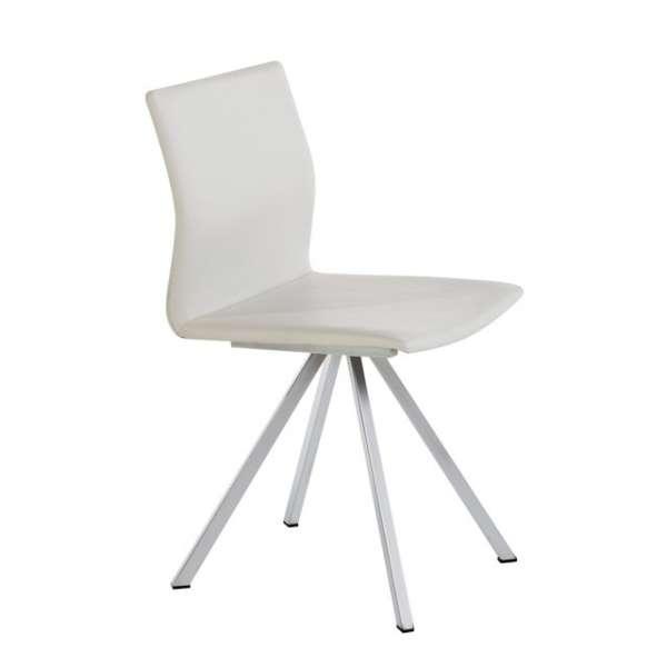 Chaise design en métal et vinyle - Silva