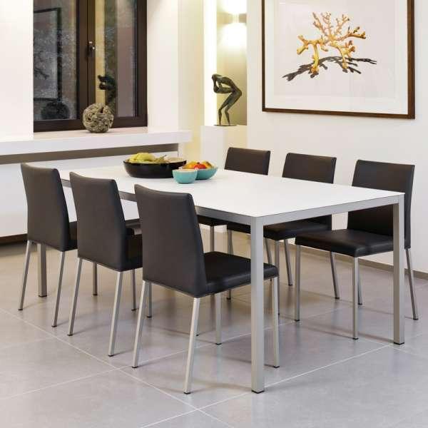 Chaise de cuisine en vinyl et métal - Gaudi 6 - 6