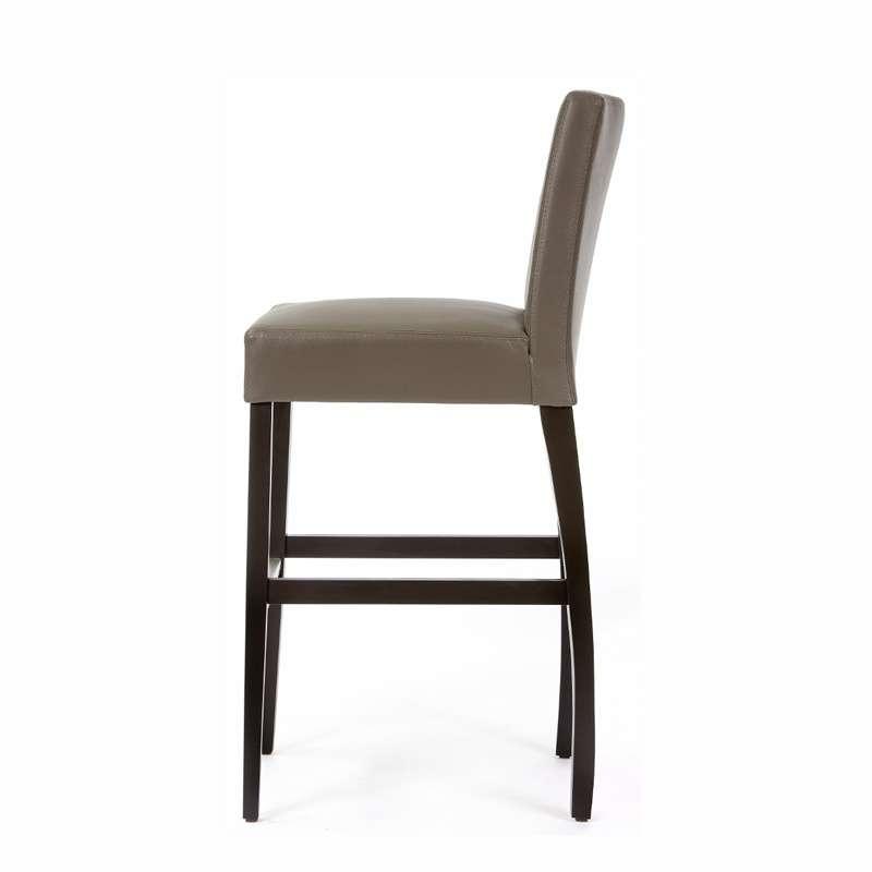 tabouret de bar en vinyl et bois matias 4 pieds tables chaises et tabourets. Black Bedroom Furniture Sets. Home Design Ideas