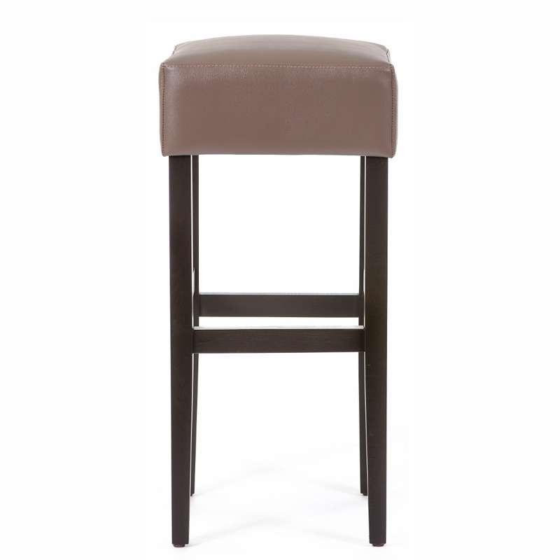 tabouret de bar sans dossier en vinyle et bois barmax. Black Bedroom Furniture Sets. Home Design Ideas