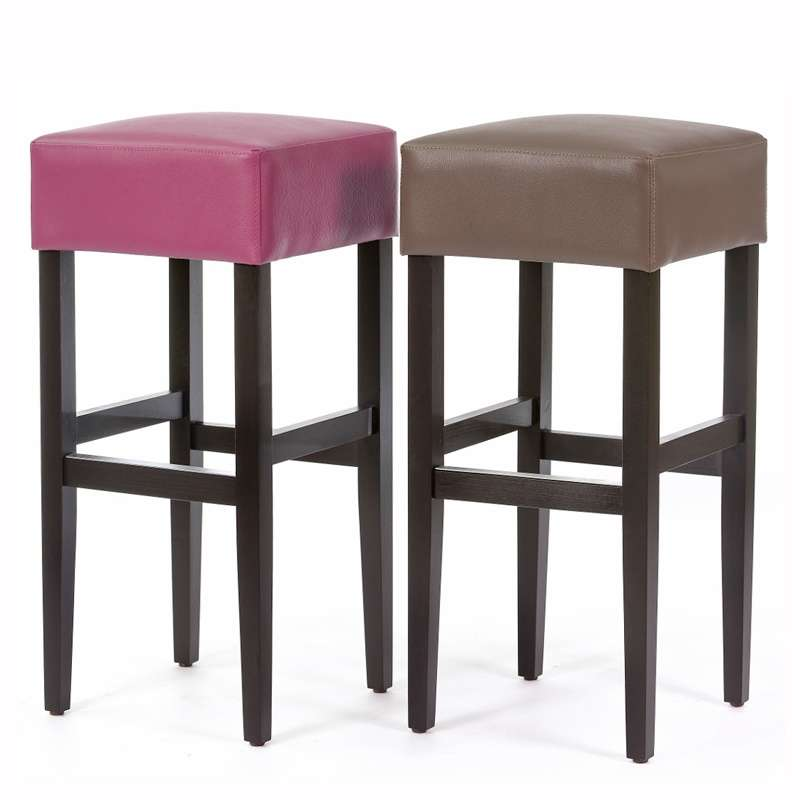tabouret de bar sans dossier en vinyle et bois barmax 4 pieds tables chaises et tabourets. Black Bedroom Furniture Sets. Home Design Ideas
