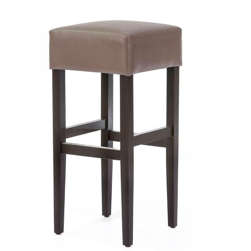 tabouret de bar sans dossier en vinyle et bois barmax 4 pieds tables chaises et tabourets. Black Bedroom Furniture Sets. Home Design Ideas