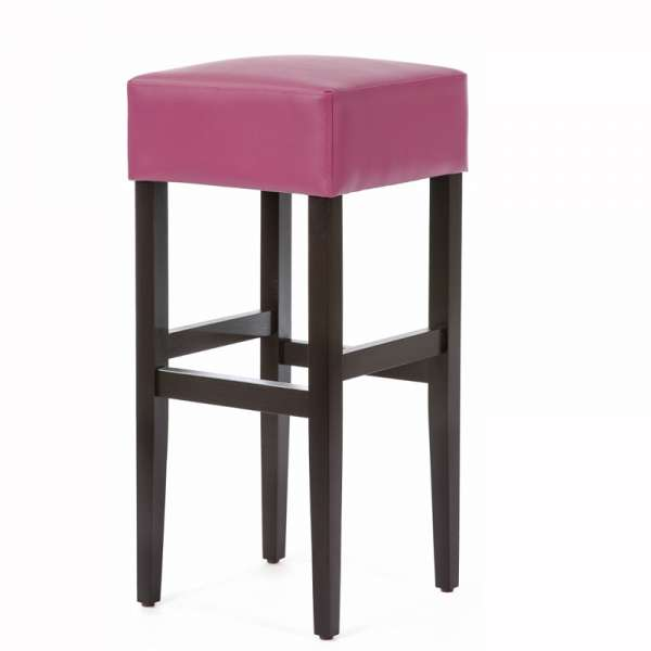 tabouret de bar sans dossier en vinyl et bois barmax 4 pieds tables chaises et tabourets. Black Bedroom Furniture Sets. Home Design Ideas