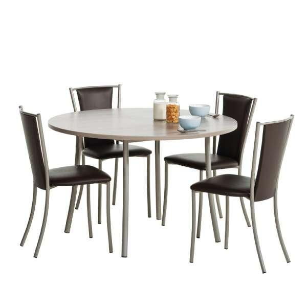 Chaise de cuisine contemporaine en métal et vinyl - Reina 2 - 2