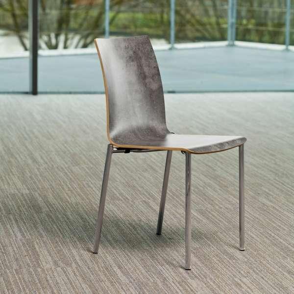 Chaise moderne en métal et stratifié - Pro's 6 - 6