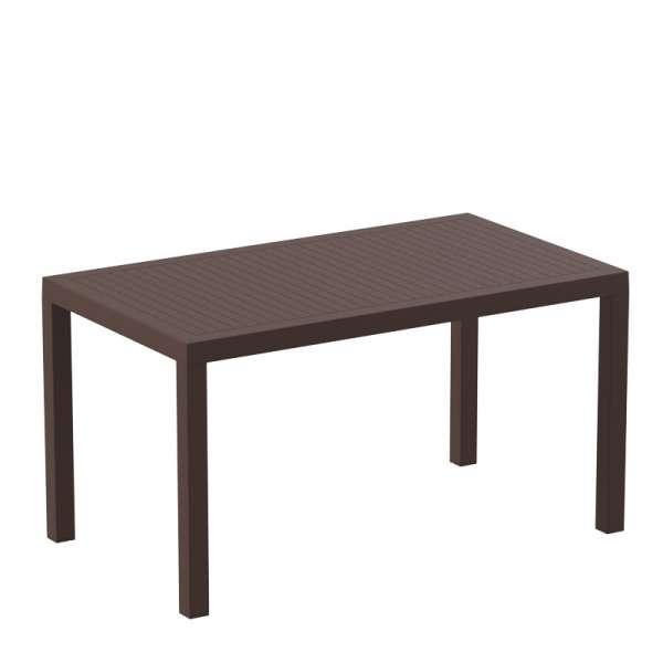 Table de terrasse rectangulaire marron foncé - Ares - 7