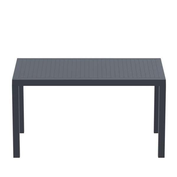Table de terrasse rectangulaire en résine grise - Ares - 8