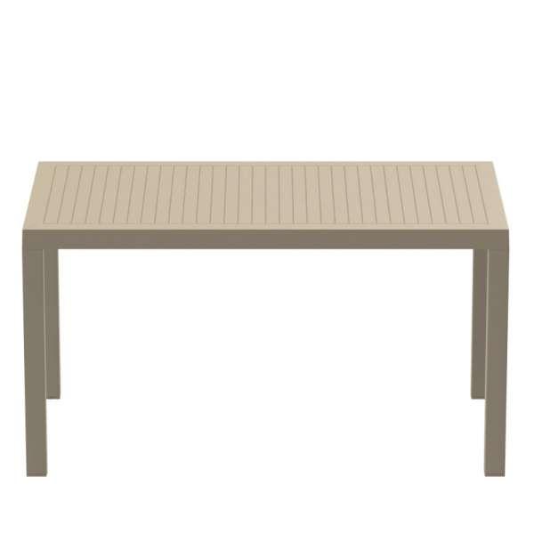 Table de jardin rectangulaire en résine tourterelle - Ares - 10