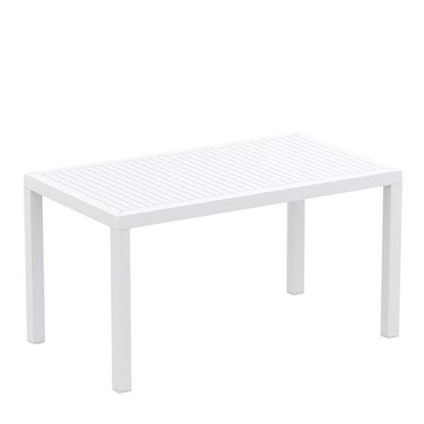 Table de terrasse rectangulaire coloris blanc - Ares - 14