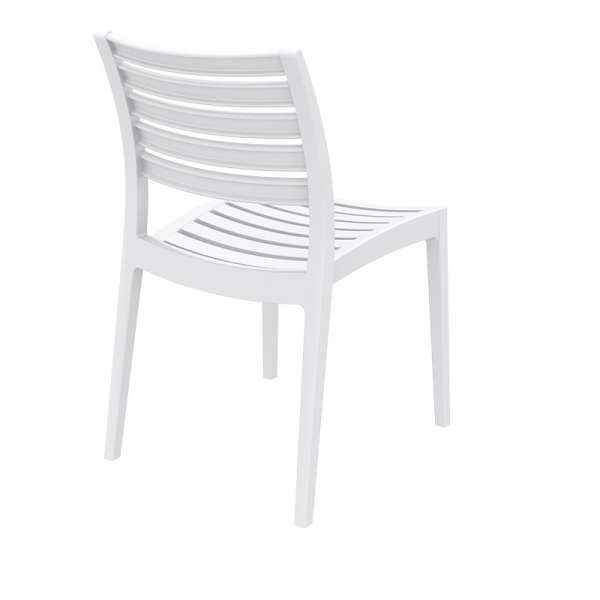 Chaise blanche en polypropylène - Ares - 22