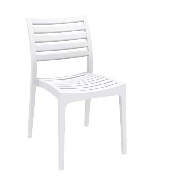 Chaise blanche contemporaine en polypropylène - Ares - 20