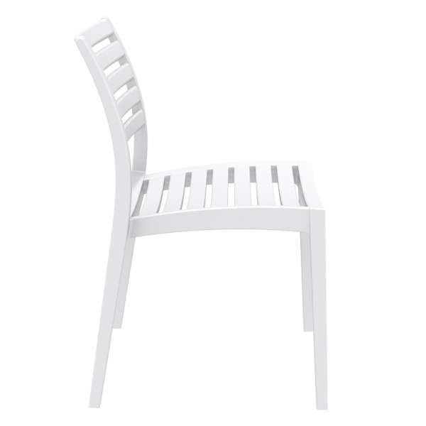 Chaise empilable blanche en polypropylène - Ares - 21