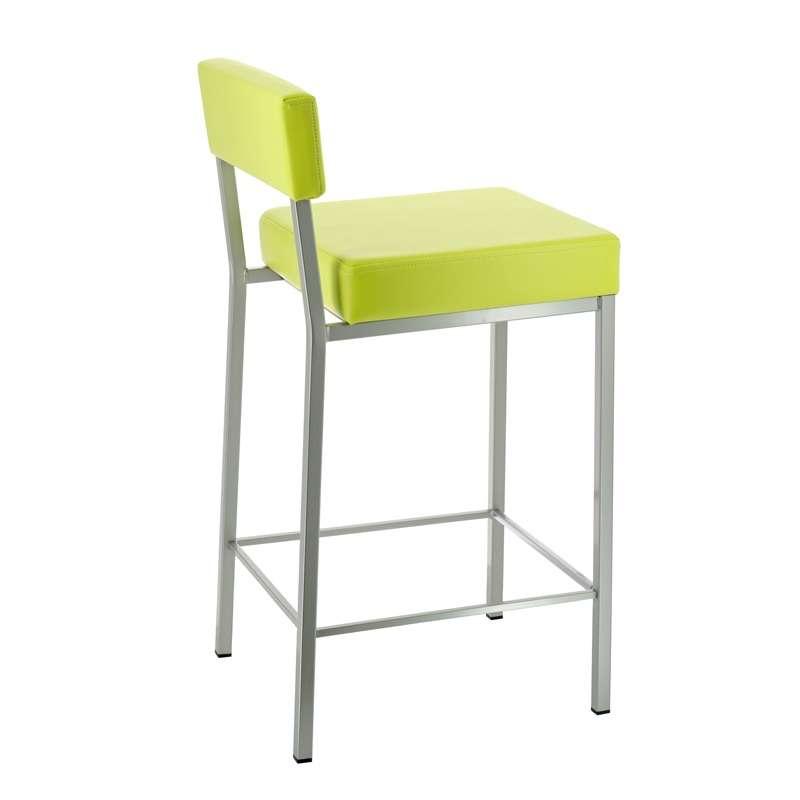 Tabouret snack ou bar en m tal quinta 4 pieds tables chaises et tabourets - Tabouret bar aubergine ...