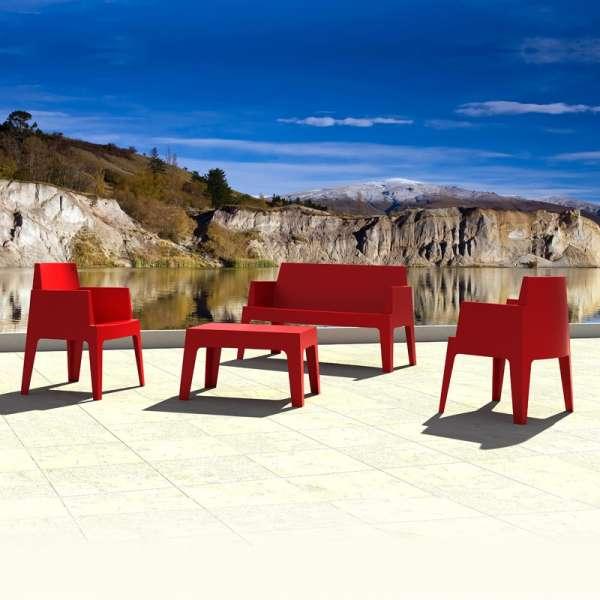 salon de jardin en polypropyl ne box jardin 2 4 pieds tables chaises et tabourets. Black Bedroom Furniture Sets. Home Design Ideas