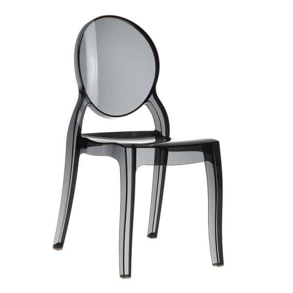 Chaise design en plexi transparent noir Elizabeth - 8