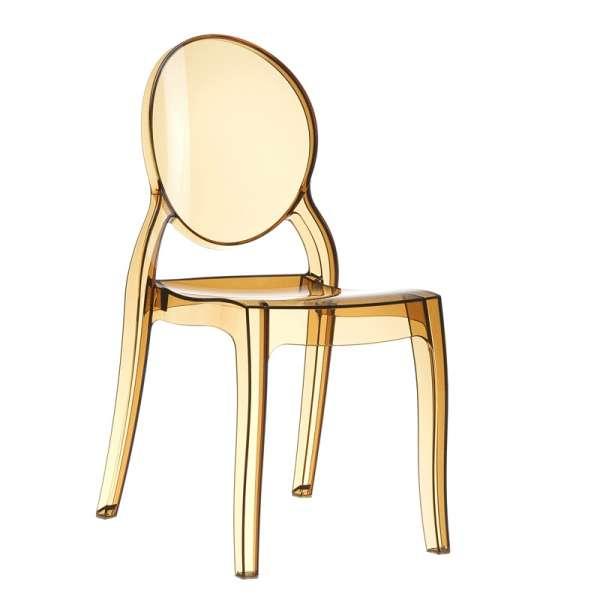 Chaise design en plexi transparent ambre Elizabeth - 6