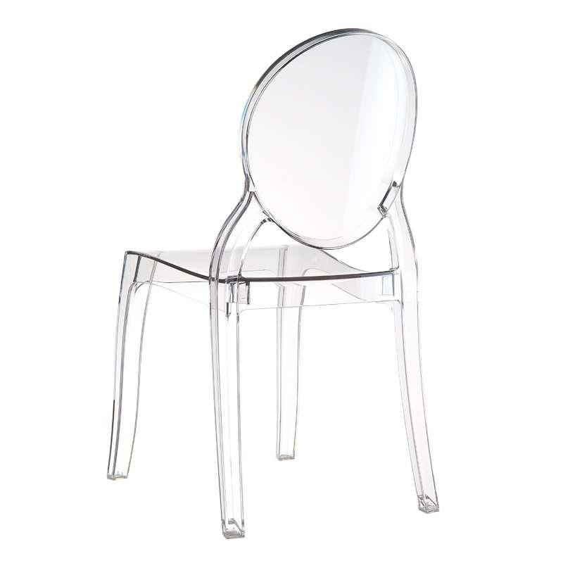 chaise de style en polycarbonate transparent elizabeth. Black Bedroom Furniture Sets. Home Design Ideas