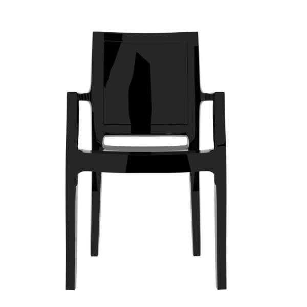 Fauteuil moderne en polycarbonate noir - Arthur - 9
