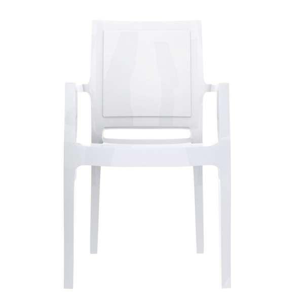 Fauteuil moderne en polycarbonate blanc - Arthur - 15