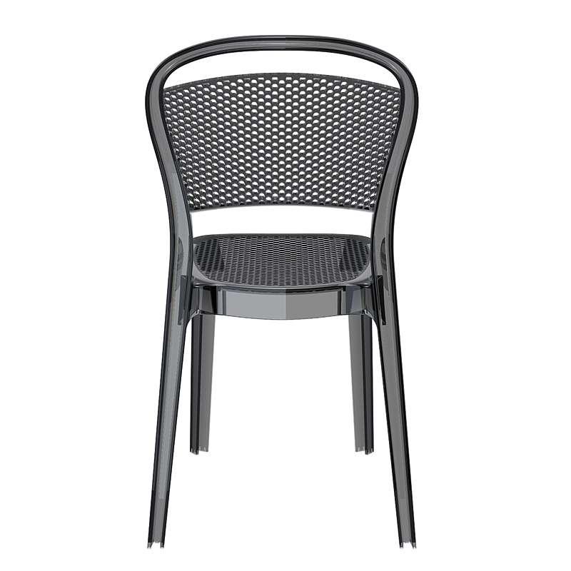 Chaise design en polycarbonate transparent bee 4 pieds for Chaise design plexi