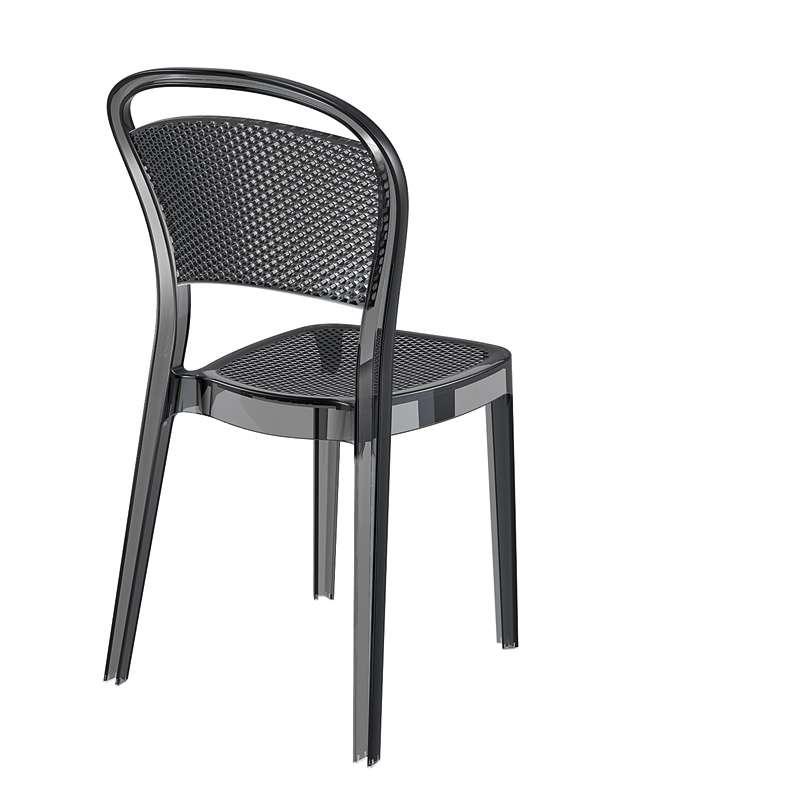 chaise design en polycarbonate transparent bee 4 pieds tables chaises et tabourets. Black Bedroom Furniture Sets. Home Design Ideas