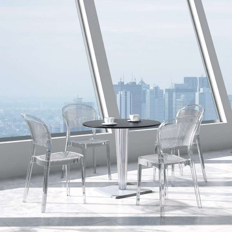 chaise design en polycarbonate bee 4 pieds tables chaises et tabourets. Black Bedroom Furniture Sets. Home Design Ideas