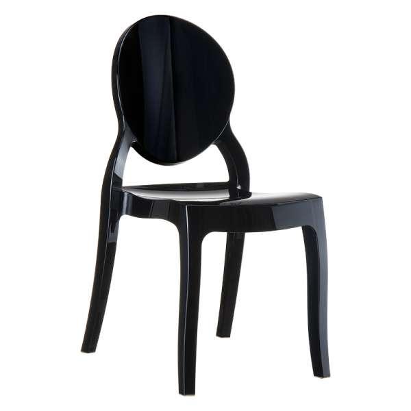 Chaise moderne médaillon en polycarbonate opaque - Elizabeth