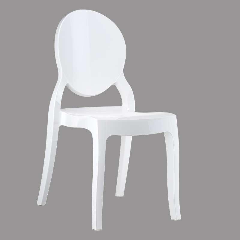 Chaise moderne m daillon en polycarbonate opaque elizabeth 4 pieds tabl - Chaises en polycarbonate ...