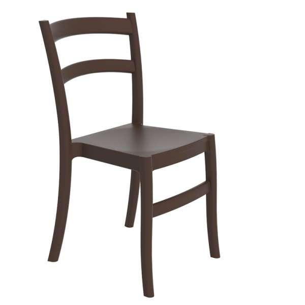 Chaise marron en polypropylène - Tiffany - 9