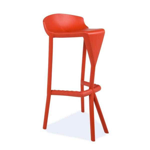 Tabouret design rouge - Shiver - 1