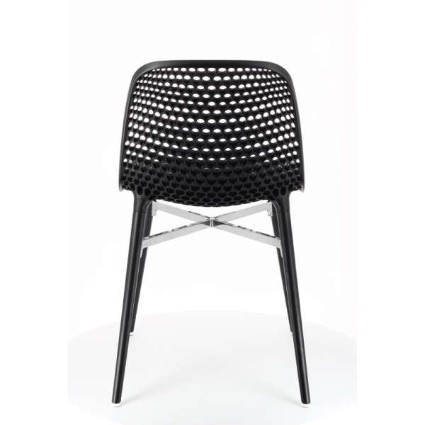 Chaise design Next Infiniti® - Piétement hêtre massif laqué & assise polycarbonate - 7