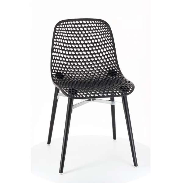 Chaise design Next Infiniti® - Hêtre massif laqué et polycarbonate
