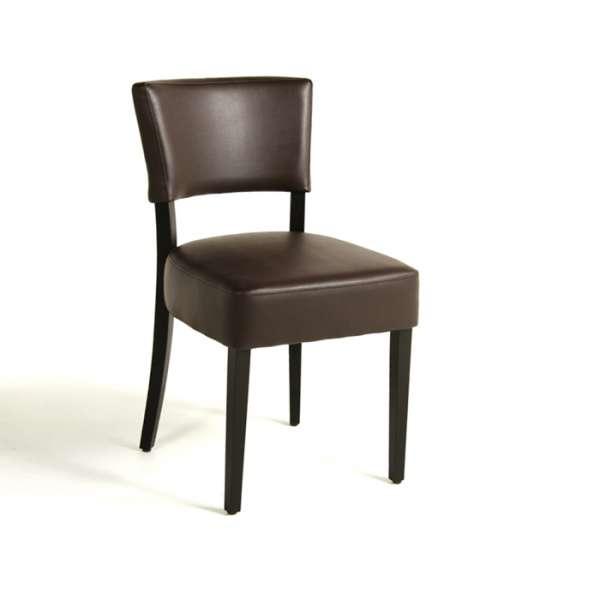 Chaise de salle à manger en bois et vinyle - Steffi