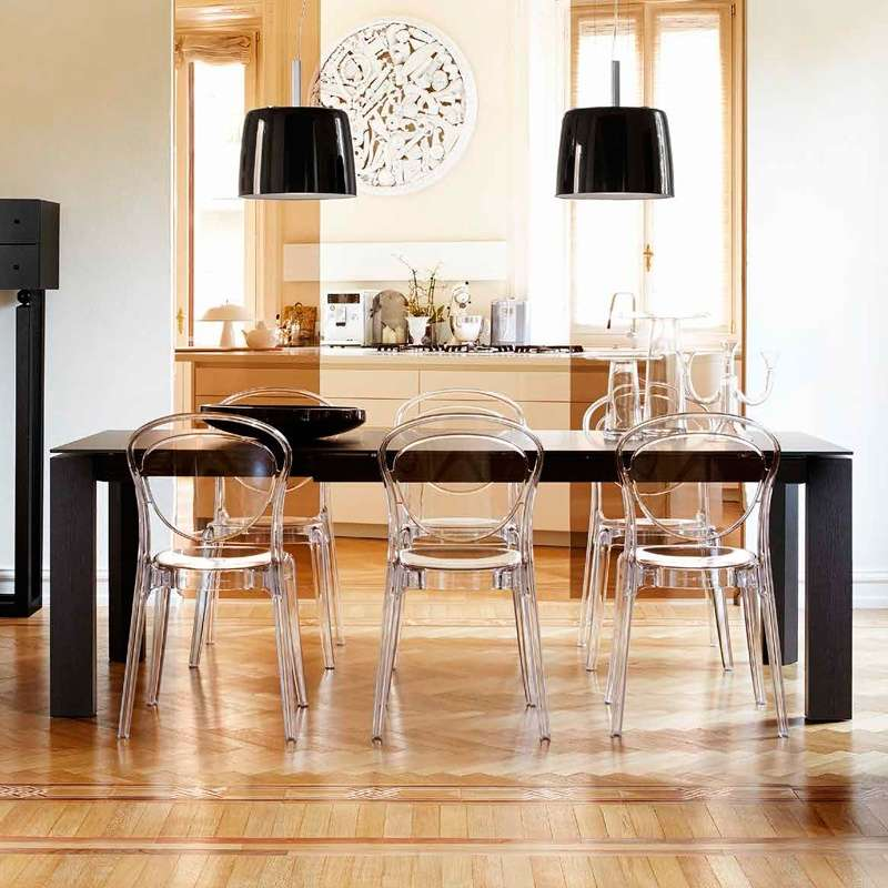 chaise design en plexi parisienne calligaris 4 pieds tables chaises et tabourets. Black Bedroom Furniture Sets. Home Design Ideas