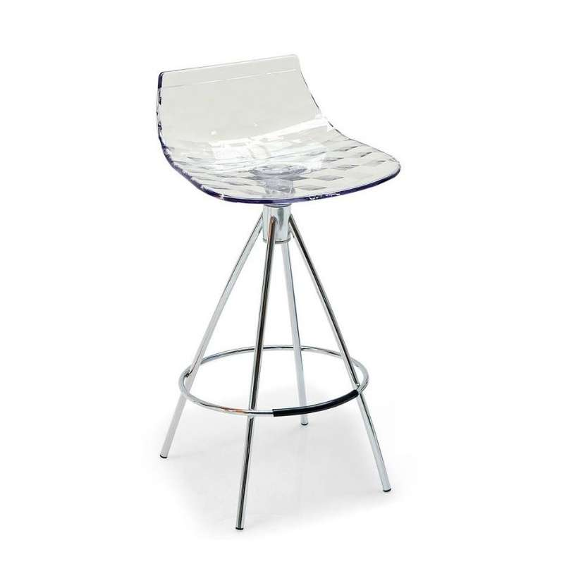 tabouret design de bar et snack en plexi calligaris 174 4 pieds tables chaises et tabourets