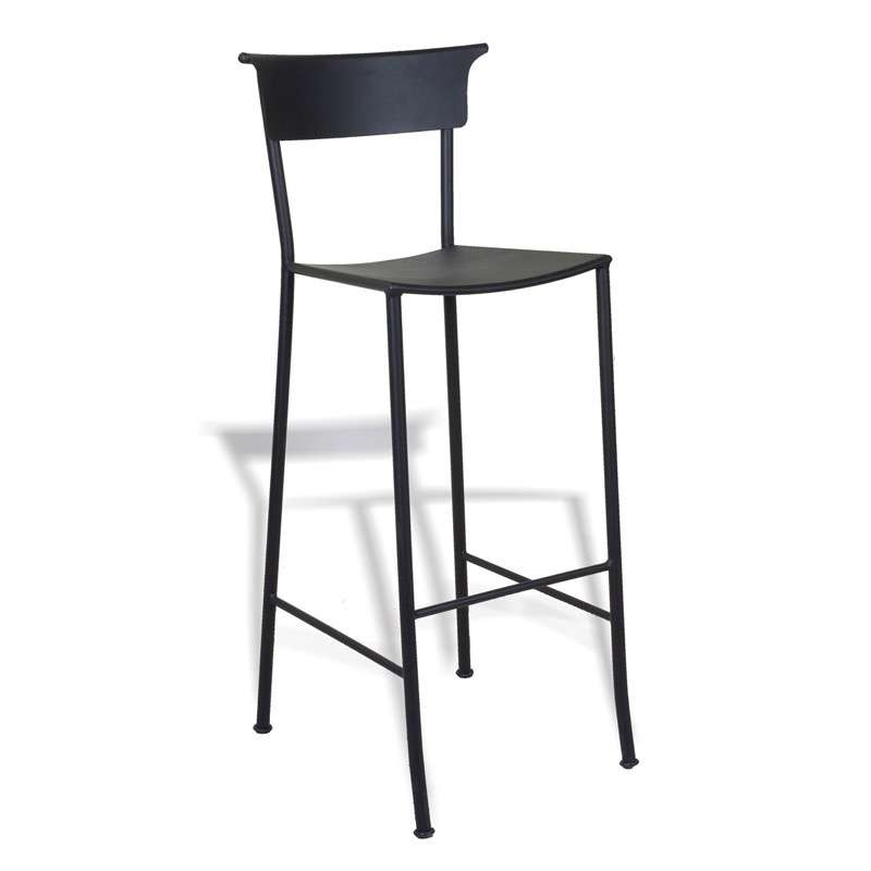 tabouret de bar en fer forg napoles 4 pieds tables chaises et tabourets. Black Bedroom Furniture Sets. Home Design Ideas