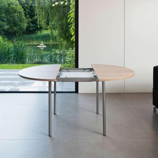Table de cuisine ronde en stratifié avec rallonge - Basic 4 - 4