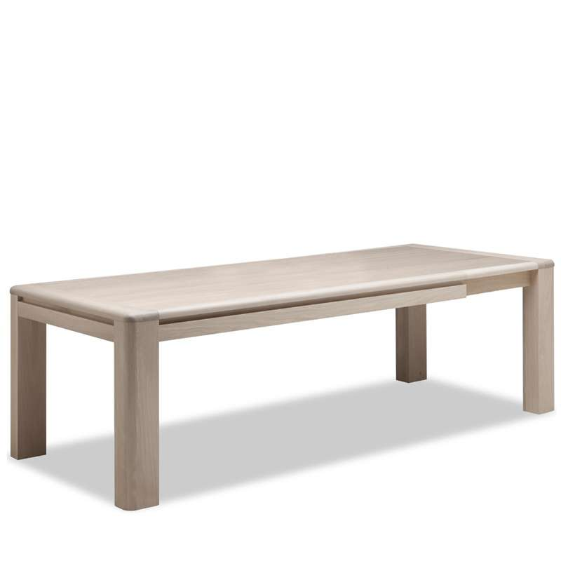 Table de salle manger en ch ne massif conception f 4 for Table salle a manger 4 pieds