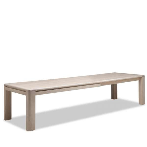 Table de salle à manger contemporaine en Chêne massif - Carrée ou Rectangle - 4