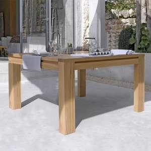 Table de salle à manger contemporaine en Chêne massif avec incrustation - Carrée ou Rectangle