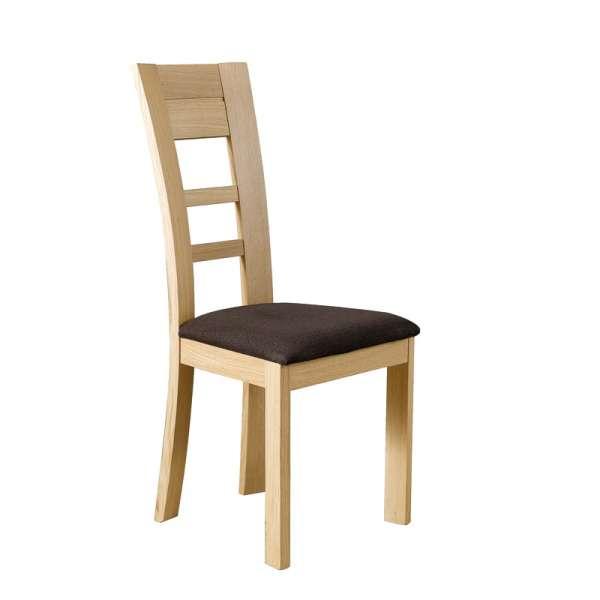 Chaise contemporaine en chêne massif