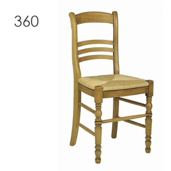 chaise de salle manger en bois rustique en ch ne 360