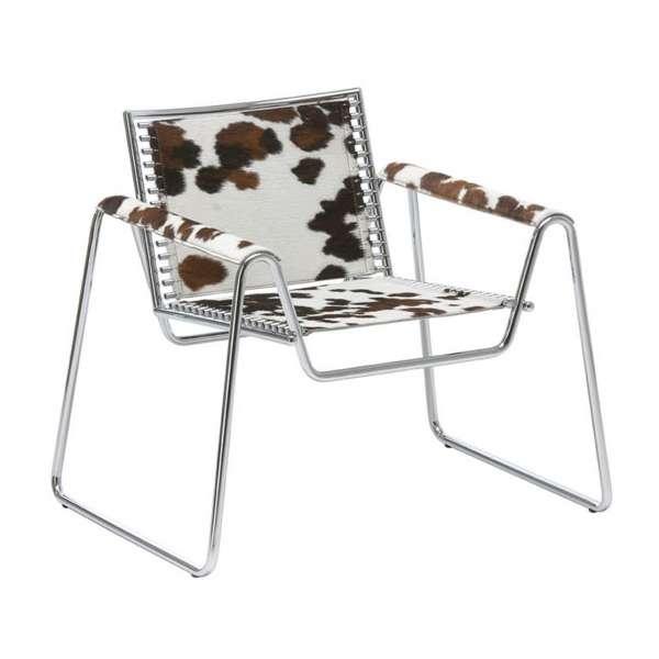 Fauteuil design en métal chromé et cuir Paolo Vernier Midj®