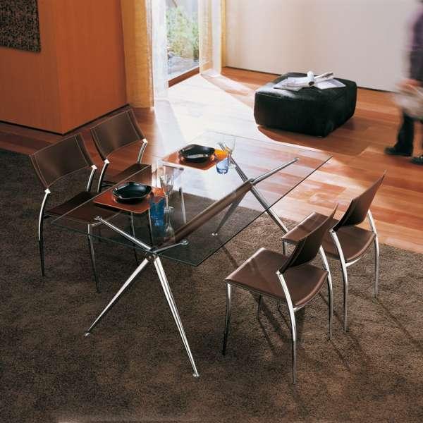 Table en verre design Brioso Midj® - 1